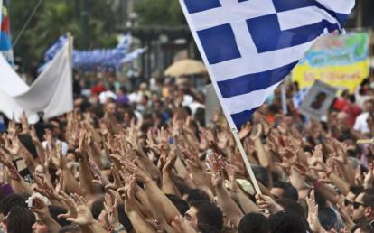 Almost daily demonstrations in Athens against austerity measures being imposed on the Greeks.