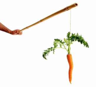 The usual carrot and stick model doesn't work in Parecon.
