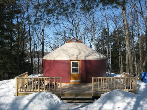 Mongolian-inspired yurts have become VERY popular camping and holiday rentals in recent years in Quebec.