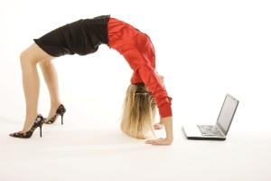 Corporate yoga!