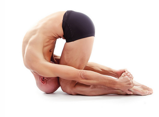 Rabbit Pose - Do you honestly think anyone can do this pose on their first time ever doing yoga?