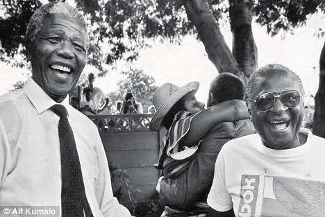 Happy dudes, Nelson Mandela and Archbishop Desmond Tutu