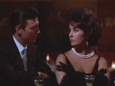"Laurence Harvey and Elizabeth Taylor, at their 1960s best in ""Butterfield 8"""