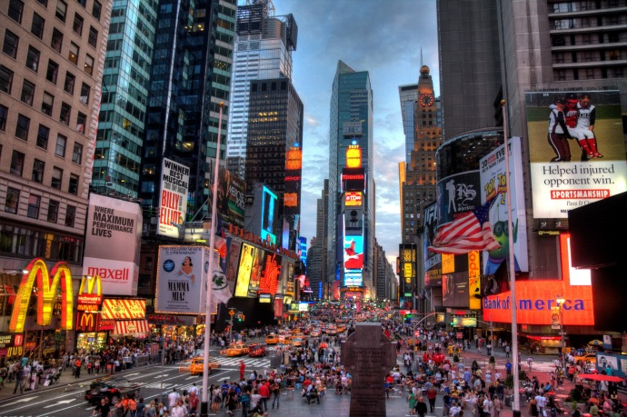 Yeah, I get it,  it's Times Square NYC, but you're going to tell me this is beautiful?