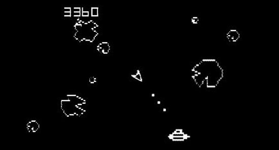 1980's Asteroid videogame by Atari.