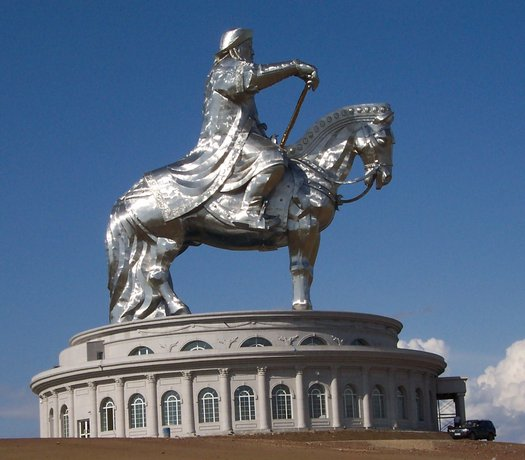 Genghis Khan monument in Mongolia - dude is still deeply revered there.