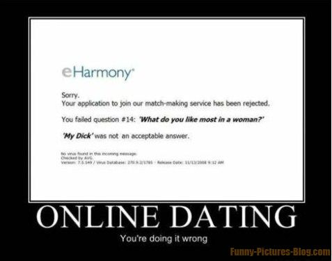 Online dating tekst