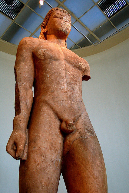 The Kouros of Samos, Greece