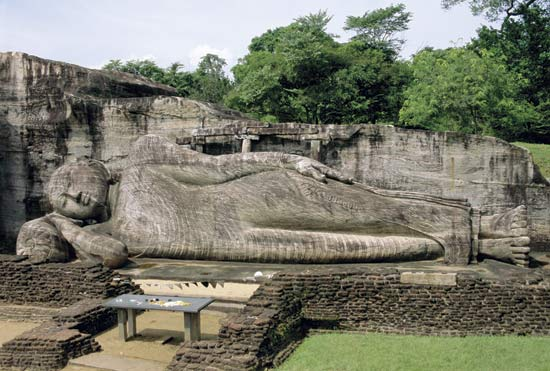 Reclining Buddha at Polonnaruwa, Sri Lanka