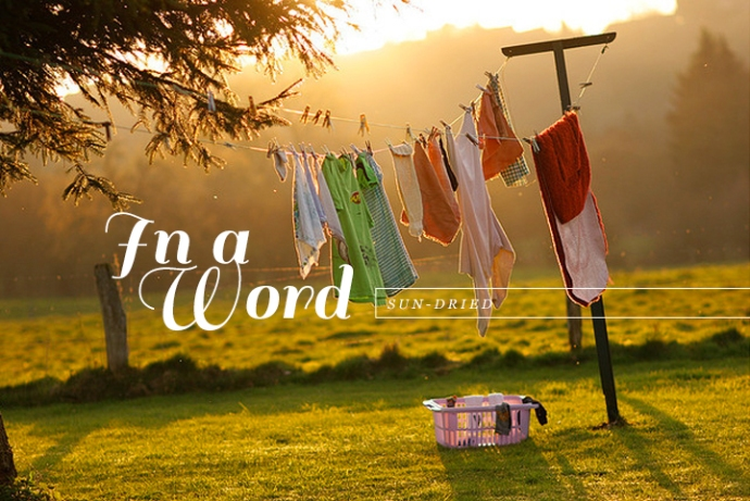 I don't know if you have ever noticed, but clothes dried outside under the sun, somehow always feel crisper and cleaner.