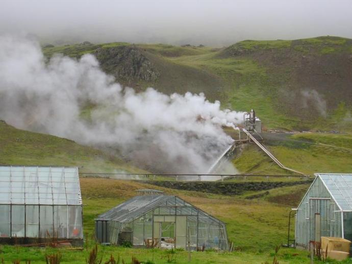 Did you know that Iceland grows it's own bananas in their greenhouses because it's cheaper to do so than to import them from overseas?  Also the fact that the island is volcanic and geothermally active ensures they have all the cheap heat they need. (Do you see any agro-business or oil companies having a fit now?)
