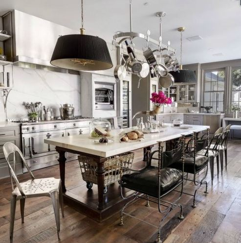 Gwynnie's gourmet kitchen at her new $10 million dollar digs in L.A