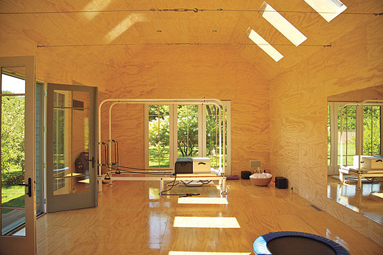 Gwyneth Paltrow's at-home private studio. She had a separate building built just to work out.