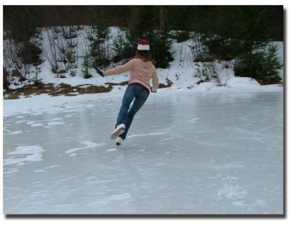 Ice-skating on frozen ponds was one of the most fun things we did as kids.