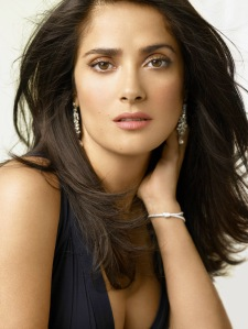 Salma Hayek is  of Spanish and Lebanese descent, and fluent in Arabic, Spanish, Portugese and English