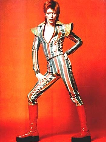 Bowie as Ziggy Stardust, at his most androgynous