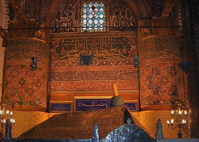 Rumi's grave (May eternal peace be upon him)