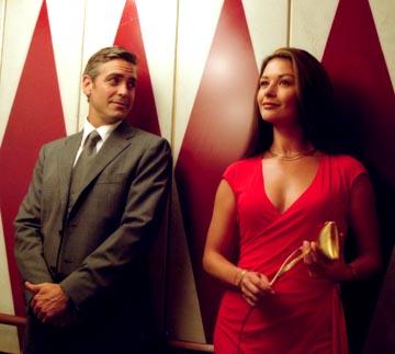 "George Clooney and Catherine Zeta-Jones definitely had serious chemistry going on in ""Intolerable Cruelty"""