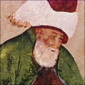 Mevlana was actually born in present-day Afghanistan, wrote all his poetry in the Persian language and is buries in present-day Turkey.