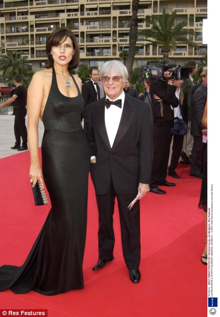 ...or this. F1 dwarf-boss Bernie Ecclestone and his statuesque, much younger  (now ex-)wife