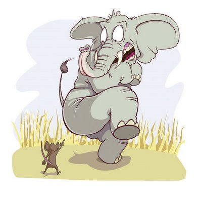 elephant scared of mouse