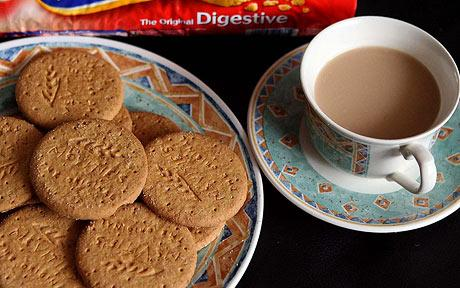 You cannot get more English than tea and biscuits.