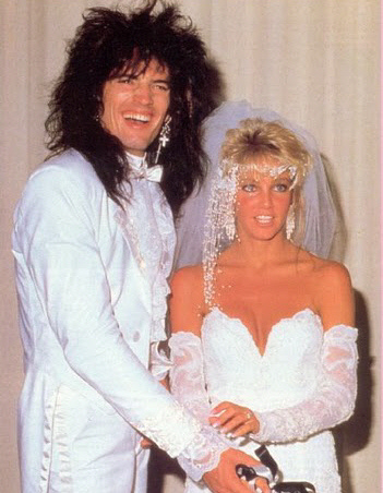 Tommy Lee was married to actress Heather Locklear for a while but of course, it didn't last too long.