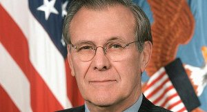 Donald Rumsfeld = Jerk How the hell do people like this sleep at night?
