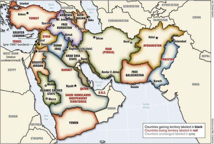 One possible new map for the Middle East. from globalresearch.ca