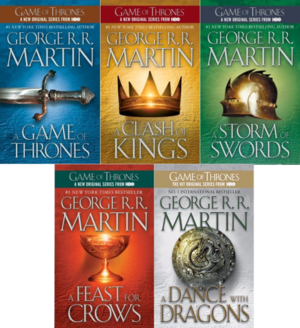 All the titles in Georgee R.R. Martin's series
