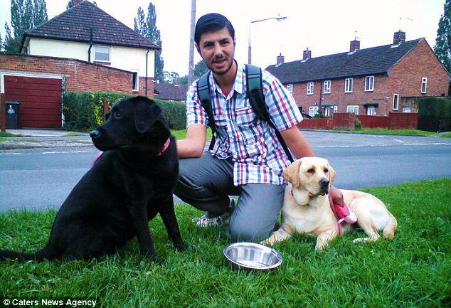 19 year olf Turkish boy-toy Cihat Haciveliogullari, with the dogs of his 53 year old wife Julie Haycocks.