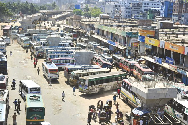 Gulistan bus station did NOT look like this when I was there. Imagine this picture but with people teeming everywhere instead.