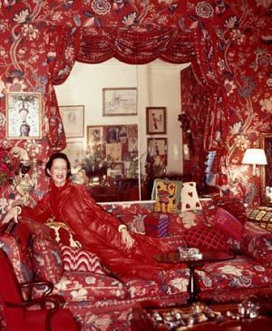 Vreeland in her famous red room, a study in excess if you ask me.