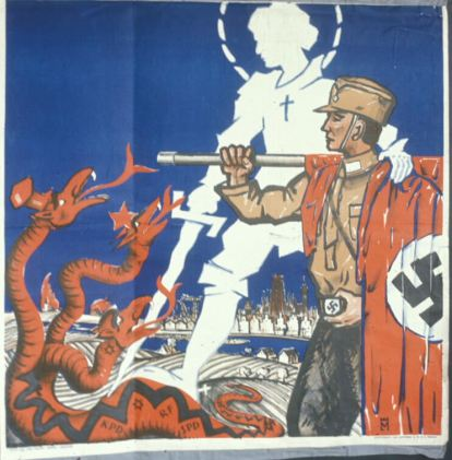 A typical German volkisch poster.