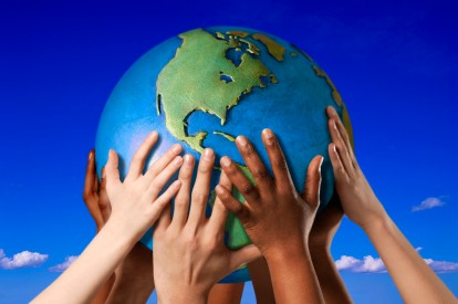 One Earth, one family, one race, one people. Oneness.