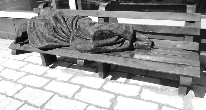 """Jesus the Homeless"" by Timothy Schmaltz"