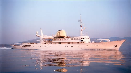 The old Onassis yacht