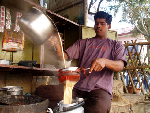These chai wallah , tea vendors in the streets of Asia will make the BEST tea you'll ever have in your life. Guaranteed.