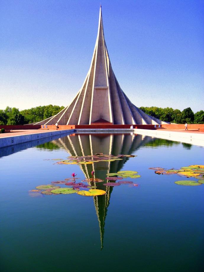 The National War Memorial in Bangladesh
