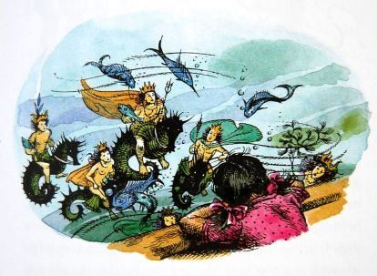 Lucy seeing the war-like Sea People