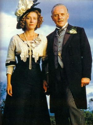 "Emma Thompson and Anthony Hopkins in ""Howard's End"" based on E. M Forster's book about Edwardians  at the height of British imperial power."