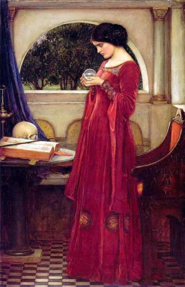"John William Waterhouse's painting ""The Crystal Ball"""