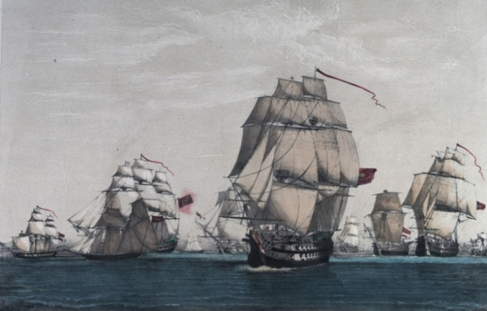 British_convoy_of_sixty-three_ships_and_all_but_eight_ships_captured_by_Spanish_and_French_under_Cordova