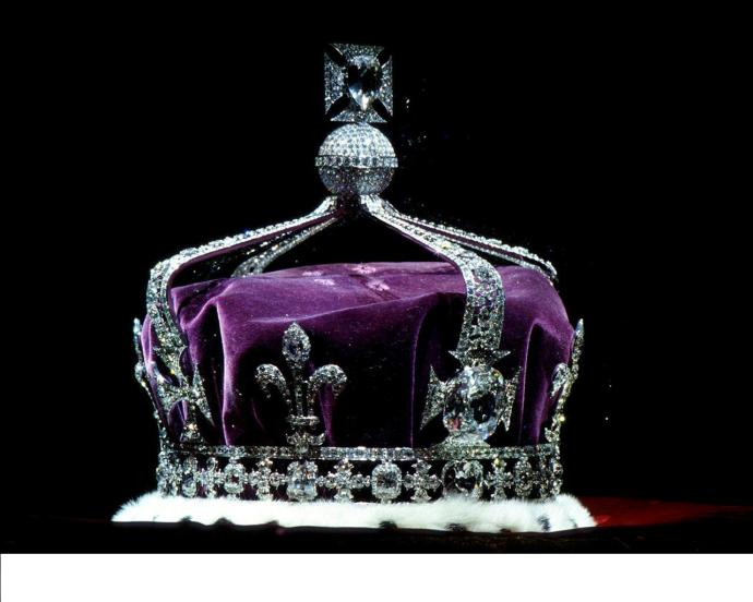 The Koor-hi-Noor diamond  sitting on the British crown. India has repeatedly asked for it back but England keeps refusing.