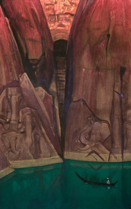 """Ashram"" by Russian artist and mystic Nicholas Roerich"