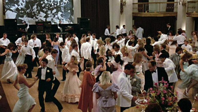 "The prom scene from John Hughes 1980's classic ""Pretty in Pink"""