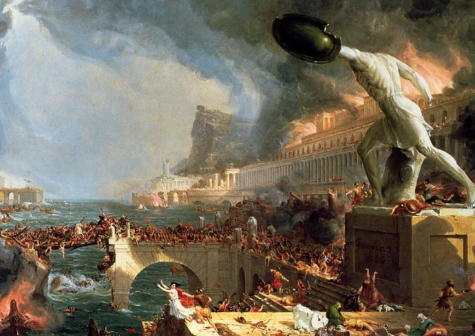 """The Fall of Rome"" by Thomas Cole"