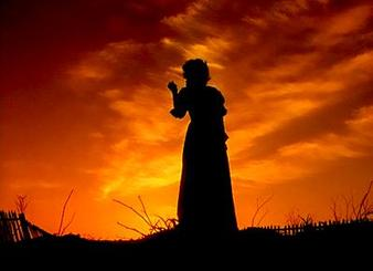 """Scarlett O'Hara in Victor Fleming's classic """"Gone With the Wind"""""""