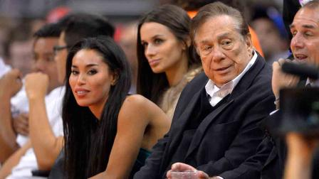 V.Stiviano (left) and her former sugar-daddy Donald Sterling.(Girl, what the hell were you thinking?)
