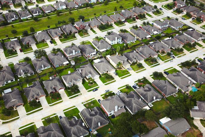 If you're going to tell me that aiming to live in suburban sprawl like this is the end-all and be-all of human existence, you know where you can go...